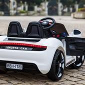 Электромобиль Porshe Sport Mini 718 колеса Резина сидение кожа