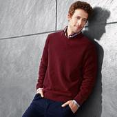 Теплый мужской свитер 80% шерсти Tchibo Германия р.XL