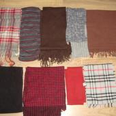 шарфы . 9 штук . разной длины и цветов . обмен