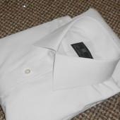 Рубашка белая с длинным рукавом. 39-40 см