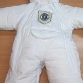 Детские зимние комбинезоны-трансформеры с отстежным мехом от 0 до 1,5 лет