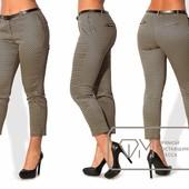 X5088 укороченные брюки 50-56р 3 цв
