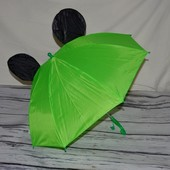 Зонтик зонт детский трость Микки Маус со свистком разные цвета