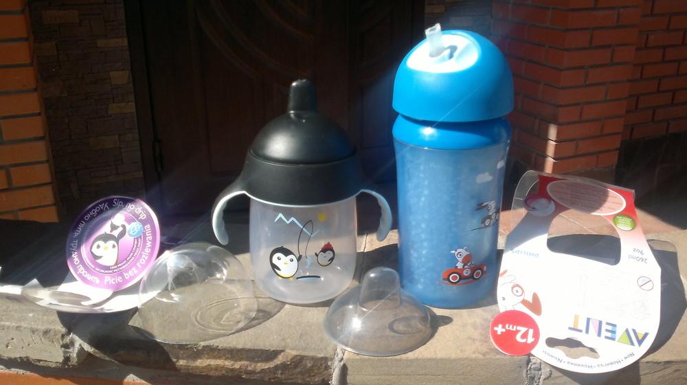 Чашка непроливайка и термочашка avent фото №1