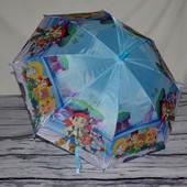 Яркий зонт зонтик детский полуавтомат Джейк и пираты Нетландии тканевый