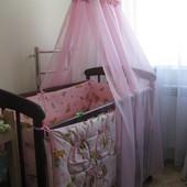 Комплект в кроватку для девочки и мальчика, кроватка