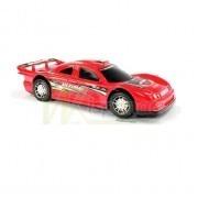 Машина спортивная красная с инерционным механизмом фото №1