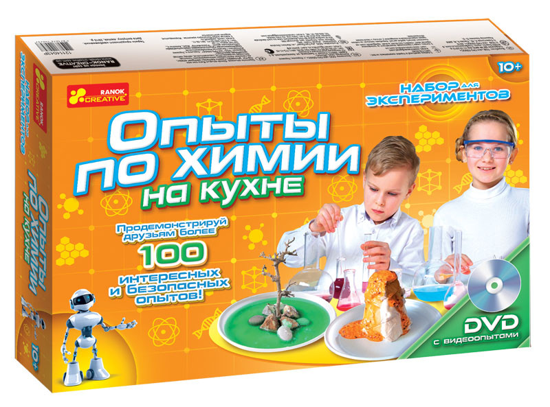 Набор для экспериментов опыты по химии на кухне 12114043р ranok-creative эксперименты научная игра  фото №1