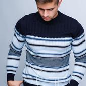 Стильный мужской свитер   50, 52, 54