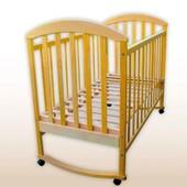 Laska Луна детская кроватка без ящика с качалкой