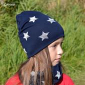 В наличии!! шапка и снуд для девочки/мальчика, 2 слоя, 2-7 лет ОГ 48-54 см