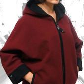 Демисизонное кашемировое пальто в больших размерах