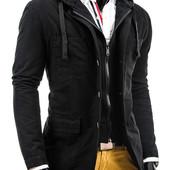 мужская куртка-пиджак для повседневной носки, выполнена из натурального хлопка .