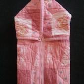 Конверт -одіялко в стилі печворк,дівчинці 0-6 місяців.