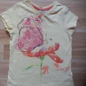 Фирменная футболка Next  малышке 1,5-2 года состояние отличное