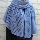 Нежный шарф палантин из итальянской шерсти, ручная работа