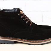 Ботинки Hilfiger, зима, р. 40-45, натур. замша, код nvk-2320