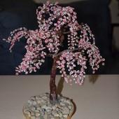 дерево из бисера-сакура