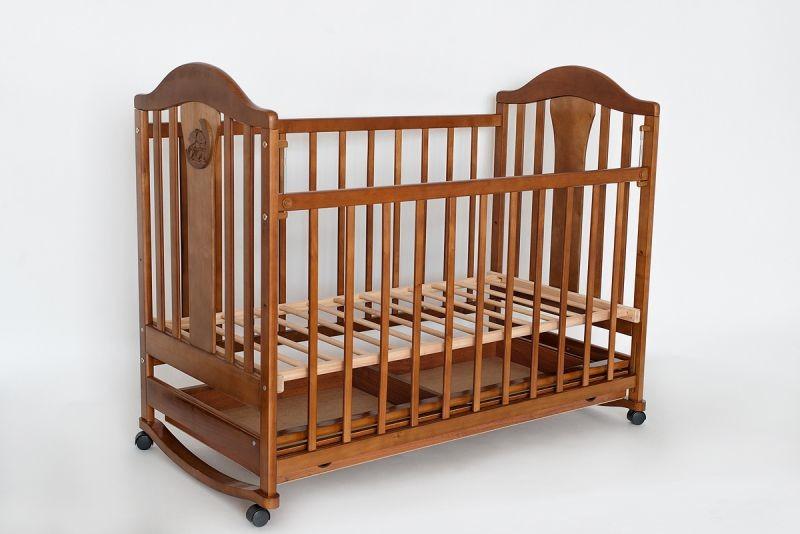 Детская кроватка Laska Наполеон New без ящика с качалкой фото №1