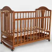 Laska Наполеон New детская кроватка без ящика с качалкой