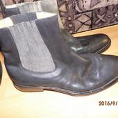 фирменные кожаные ботинки 44 р Hugo Boss