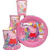 Посуда. Праздничная картонная  Свинка Пеппа