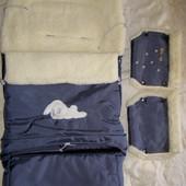 Зимний конверт на овчине+муфты или варежки