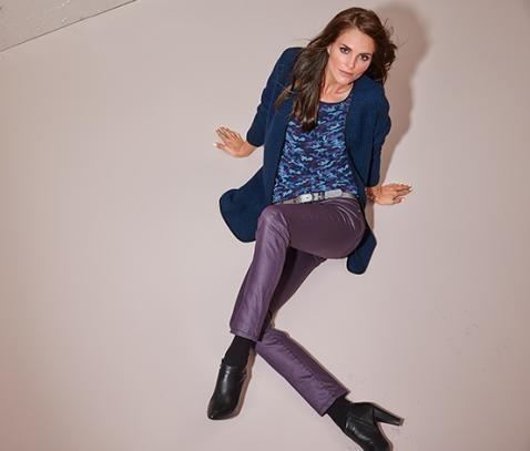 Практически даром, джинсы, 150 грн, цвет баклажан, евро р-р 36, 38, 40, 42, 44, 46 tcm, tchibo фото №1