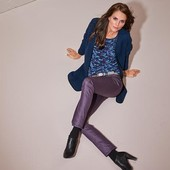 Гламурные джинсы слимы, цвет - баклажан, евро р-р 36, 42, 44(наш  42, 48 и 50), TCM, tchibo