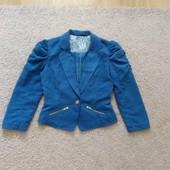 пиджак -ткань под замш  М мини L-ка
