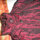 Пальто тёмное бордо с перламутром на синтепоне /S
