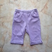 Велюровые штаны на девочку фирмы Next на возраст 0-3 мес (реально до 6 мес)