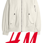 Стильная демисезонная мужская куртка бомбер размер S фирмы H&M Швеция