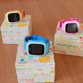 Детские умные часы-телефон с gps smart baby watch Q90 оригинал