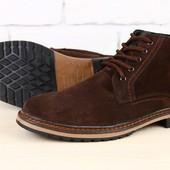 Ботинки мужские замшевые, зимние