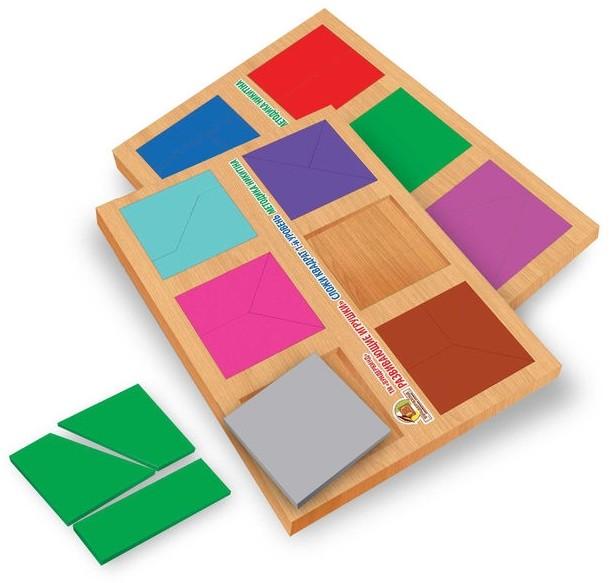 Сложи квадрат, 1 уровень, вундеркинд (ск-019) фото №1