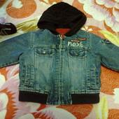 модная и красивая джинсовая куртка 1,5-3 года