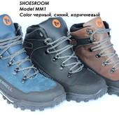 Кожаные мужские зимние ботинки Merrell, отличное качество!