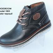 Ботинки зимние для мужчин, натуральная кожа