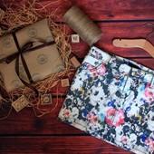 Классная джинсовая юбка в цветочный принт amisu
