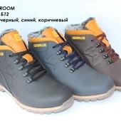 Ботинки зимние мужские, кожа