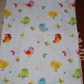 Обалденная натуральная Качественная постель постельное белье с птичками детское