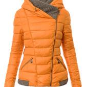 Куртка стёганая зимняя женская с капюшоном
