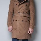 Zara Man M Стильное демисезонное мужское пальто