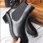 Женские осенние ботинки Chanel Шанель. Под заказ