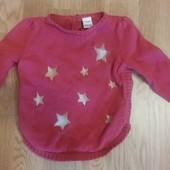 Вишневый свитер звездочки 12-18 мес