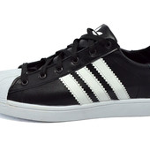 Кроссовки Adidas superstar 90s black white