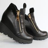 Ботинки. Натуральный замш.кожа. цвета. Обувь от производителя