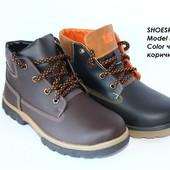 Кожаные зимние ботинки для подростка, 2 цвета
