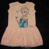 нарядное платье Yd disney Эльза 9-12 мес